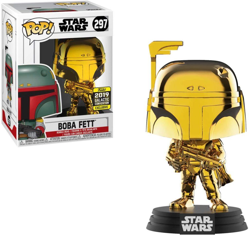 Juguete Star Wars Funko Pop Boba Fett dorado