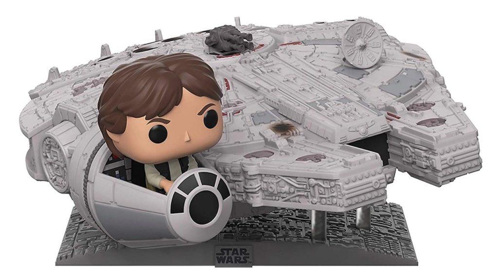 Juguete Star Wars Funko Pop Halcon Milenario con Han Solo
