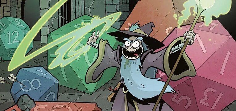 Caja de D&D vs Rick & Morty Starter Set Mago Magia y Dados