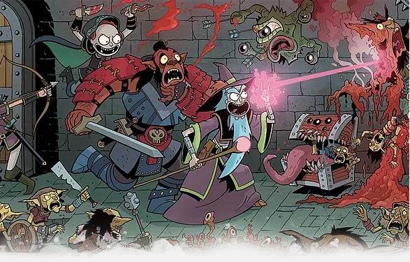 D&D vs Rick & Morty Starter Set Partida