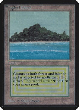 Carta Magic The Gathering Tropical Island