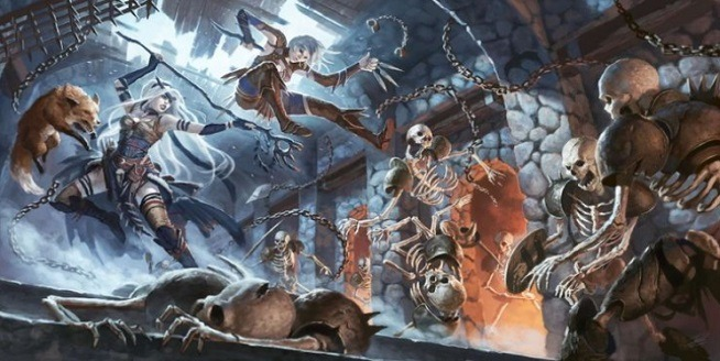 dungeons and dragons pathfinder esqueletos
