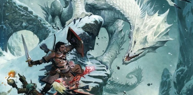 dungeons and dragons pathfinder guerrero y dragon
