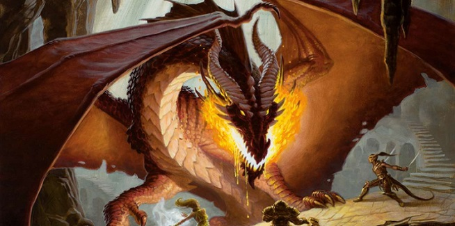 dungeons and dragons pathfinder lucha con dragon