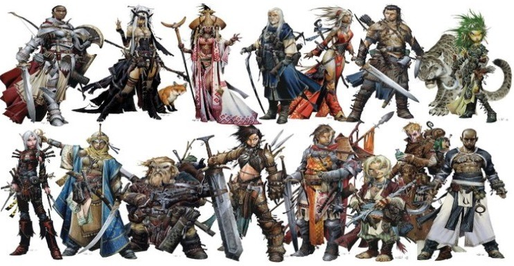 dungeons and dragons pathfinder razas y clases